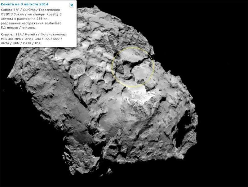 реконструкция кометы